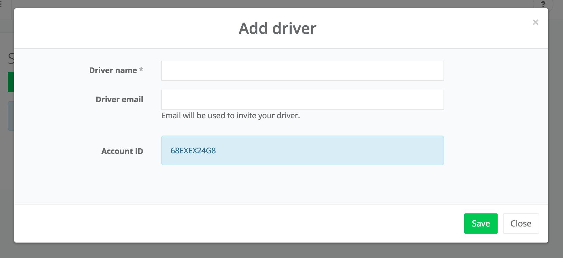 add driver form