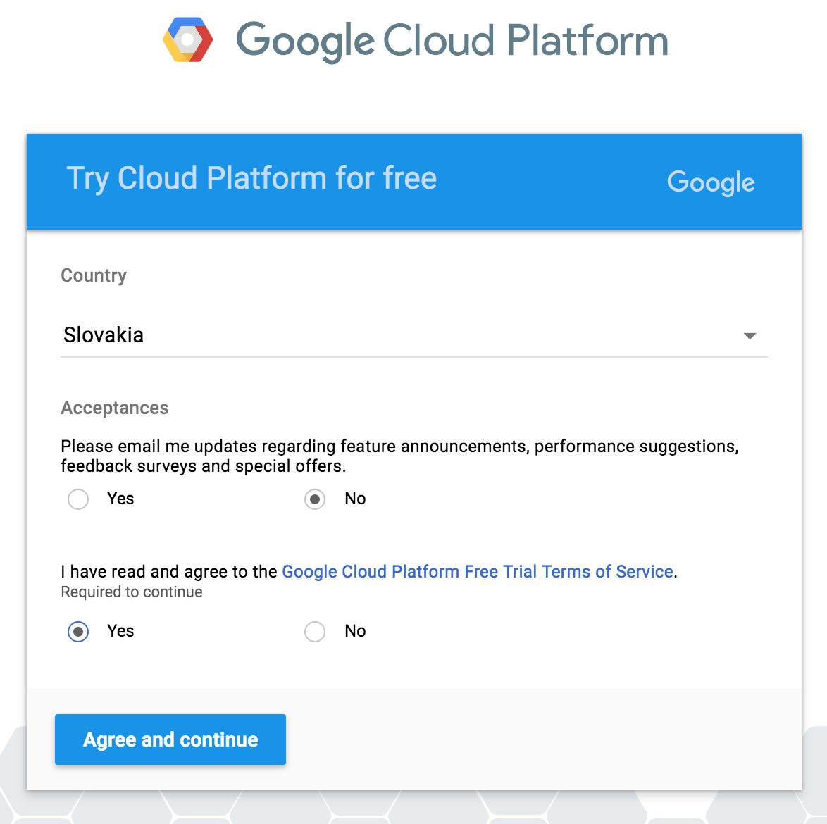 Google cloud platform - MyCarTracks