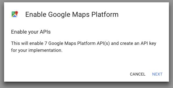 Enable Google Maps platform - MyCarTracks