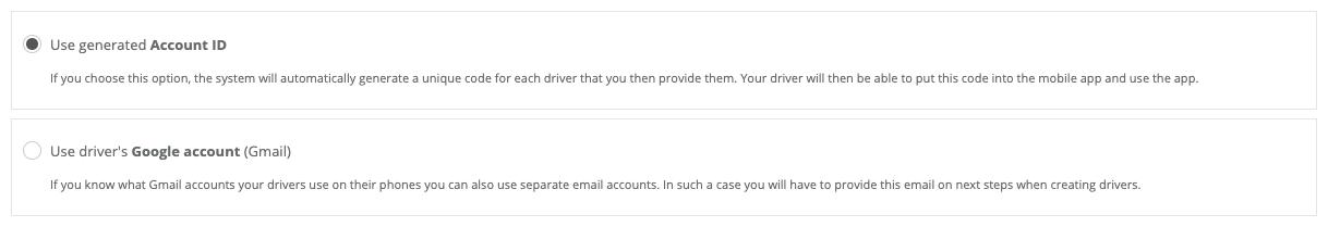 Fleet select account type