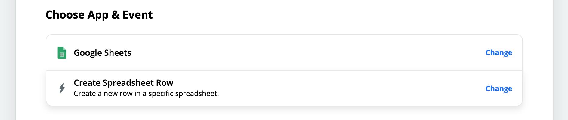 Google Sheet create row