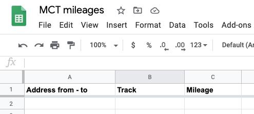 Google Sheet example